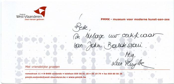 JBaldessari2009raisedeyebrows-certificate-complimentscard700