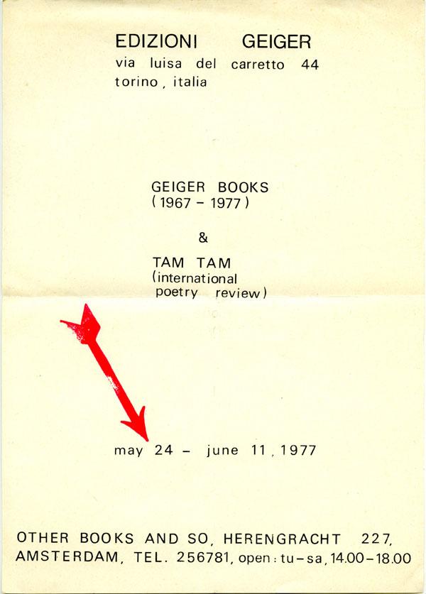 EdizioneGeiger-Books-TamTam1977-invite600