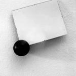 REINER RUTHENBECK, Rahmen mit schwarzer Kugel, 1987