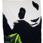 ROB PRUITT, Panda, 2010 [beach towel]
