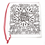 KEITH HARING, Untitled, ca 1985 [Pop Shop bag - white]