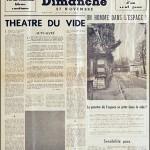 YVES KLEIN, Dimanche 27 November - Le journal d'un seul jour, 1960