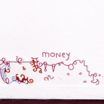 LILY VAN DER STOKKER, Money, 1999 [sticker]