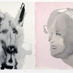 MARLENE DUMAS, Frau und Hund, 2010 [print]