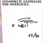 FRANZ WEST, Gesammelte Gespräche und Interviews, 2005