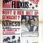 WILLEM DE RIDDER, Fluxus - nieuw!! niet gratis maar 70 ct - 10Bfr [newspaper], 1965