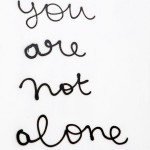 ANNE-LISE COSTE, You are not alone, 2014 [silkscreen print]