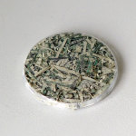 JAN HENDERIKSE, untitled, n.d. [ca 2011], badge with shredded dollars