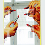 MAURIZIO CATTALAN, Lipstick Mirror, n.d. [2014]