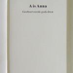 SIGURDUR GUDMUNDSSON, A is Anna - Geobserveerde gedichten, 2014