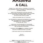 YOKO ONO, Arising - a call, 2013