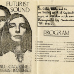 BILL GAGLIONE - ANNA BANANA, Futurist Sound, 1978 [invitation]