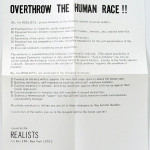 HENRY FLYNT, Overthrow the human race!, 1968