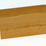 JOSEPH BEUYS, Holzpostkarte, n.d. [1974], signed