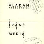 VLADAN RADOVANOVIC,  Photo Paper Trans Media Tape, 1978 [invitation]