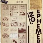 EPHEMERA - No. 6, 1978 [monthly magazine - Ulises Carrión / Aart van Barneveld / Salvador Flores]