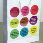 JENNY HOLZER, shopping bag with stickers, 2009