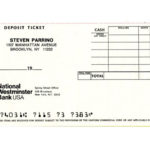 STEVEN PARRINO, deposit ticket of National Westminster Bank, ca 1993