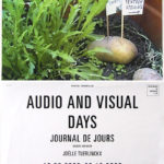 JOËLLE TUERLINCKX, Audio and visual days, 2000 [invite-poster]