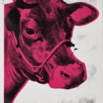 ANDY WARHOL, Cow, 1976 [wallpaper; black and white-red]