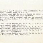 ULISES CARRIÓN, Projekt Clues, 1981