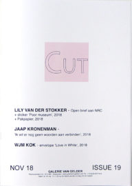 CUT magazine about art, issue #19 (November 2018)