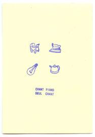 JOHN M ARMLEDER, Concert piece project, 1975 [postal card]