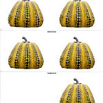 YAYOI KUSAMA, Pumpkin stickers Yellow/Black, glossy, 2019 [3 sheets]