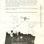 RAÚL MARROQUIN, The Link - invitation / entrance ticket, 1982