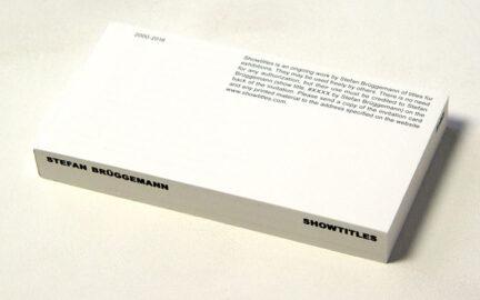 STEFAN BRÜGGEMANN, Showtitles, 2016 [artist's book]