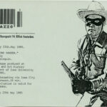 RAÚL MARROQUIN, The Lone Ranger - invite / entrance ticket Mazzo, 1985