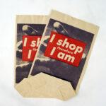 BARBARA KRUGER, I shop therefore I am, 1990