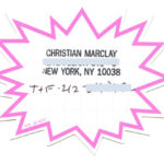 CHRISTIAN MARCLAY, business card, 1996