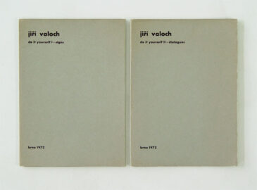 JIRI VALOCH, Do it yourself I - signs + Do it yourself II - dialogues, 1972