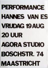 HANNES VAN ES, Performance, poster [1977]